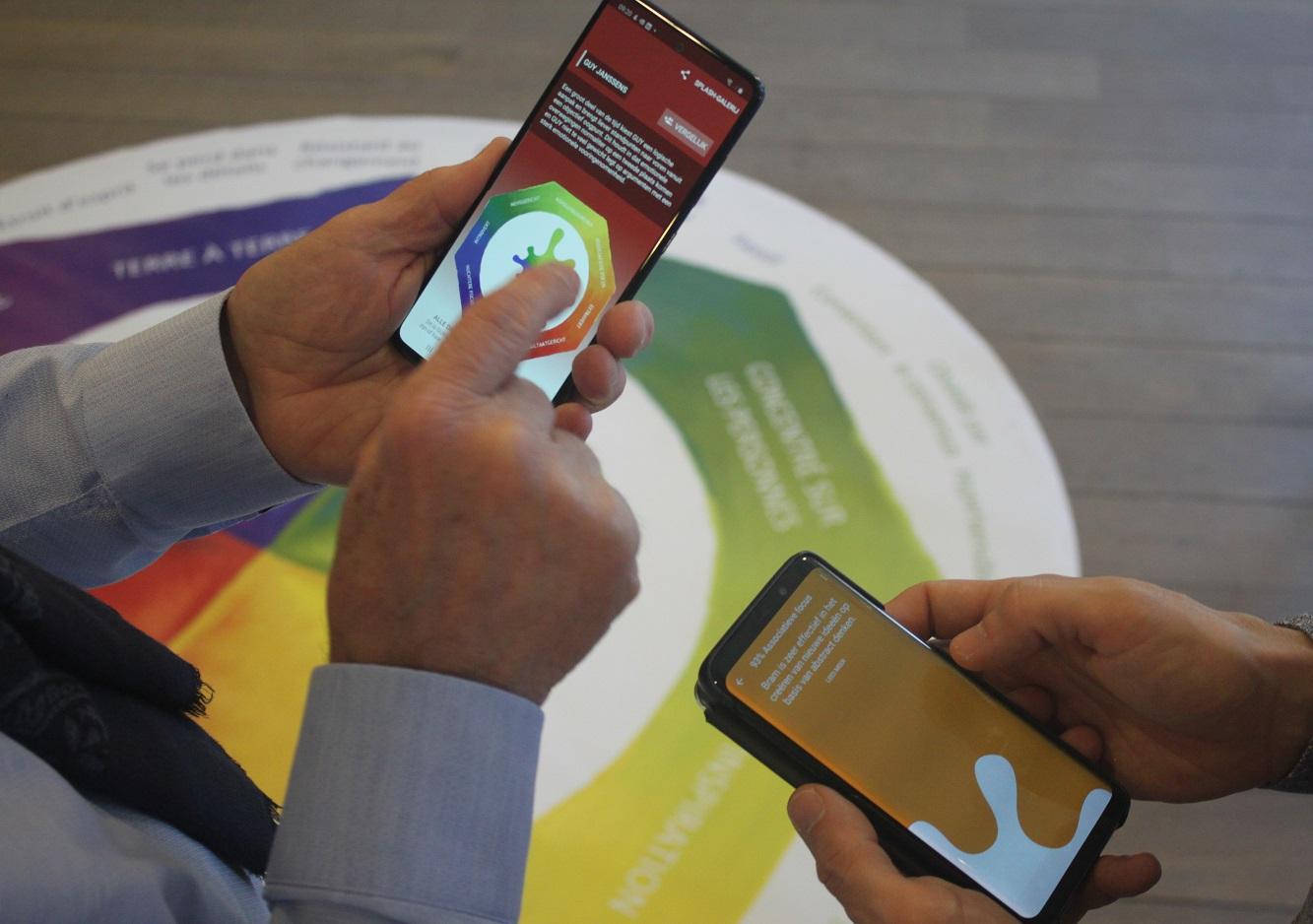 De Lumina Splash App hellpt teamleden inzicht krijgen in elkaars raakpunten en verschillen op vlak van persoonlijkheid.